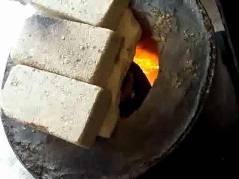 Home Built Foundry using Gas to Melt Aluminium