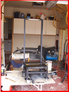Furnace stand to help me move it around the workshop after use.