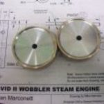 Flywheels for a pair wobbler engines