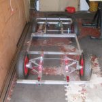 Basic aluminium chassis for ride in van