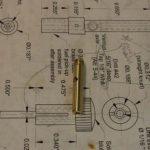 Carburettor throttle for Mills 1.3cc diesel engine