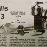 Fuel tank for Mills 1.3cc diesel engine