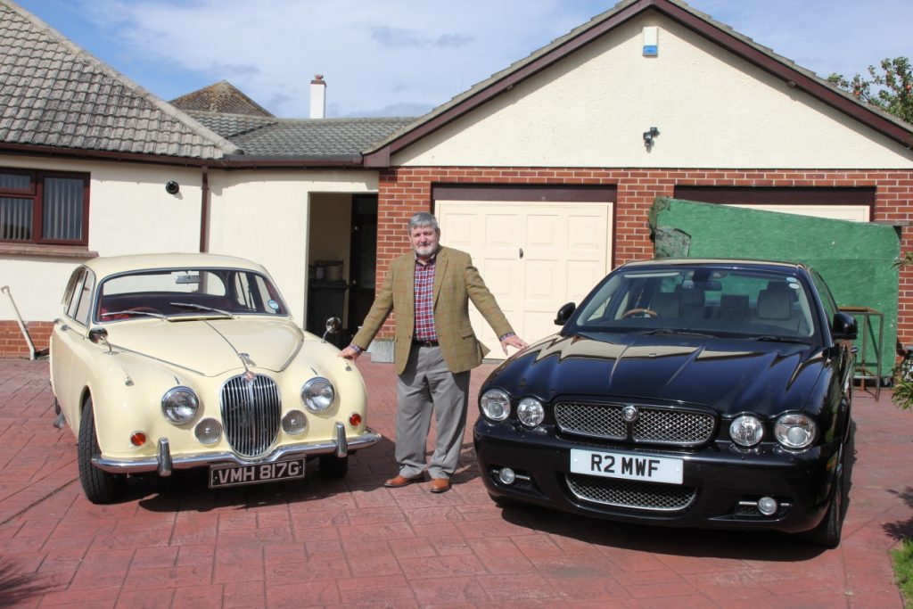Mk2 Jaguar 340 alongside my other Jaguar a 2008 XJ Sovereign