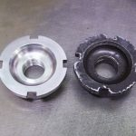 BSA crankshaft nut in stainless steel