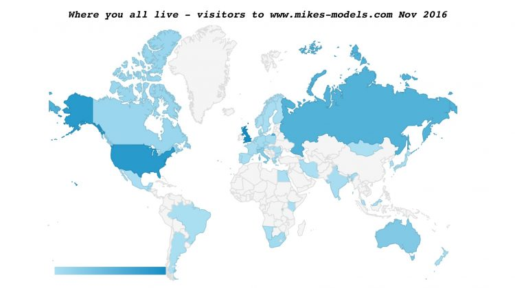 mikes-models.com visitors world map