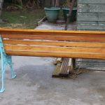 Refurbishment of cast iron garden bench