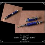 Hand turned fountain pen for sale