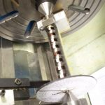 Edgar T Westbury's Seal machining camshaft on fixture