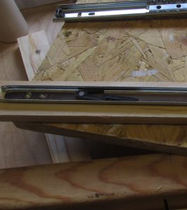 Install Drawer Slides to lathe workbench