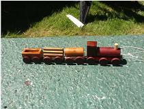 pull along wood train set