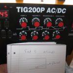 Tig Welder dial positions for TIG 200P AC/DC welder