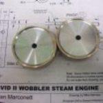 Flywheels for a pair wobbler engines