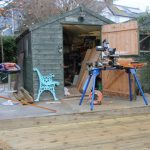 Refurbishment of cast iron garden bench
