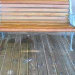 restore a cast iron garden bench