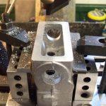 Base of cylinder block casting skimmed