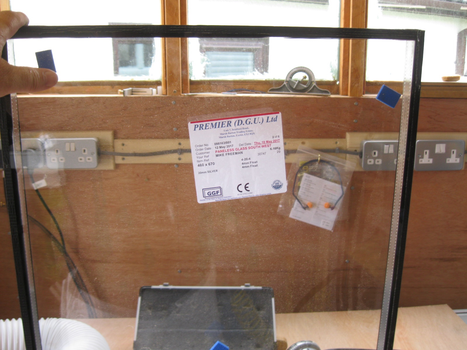 Double glazed replacement unit