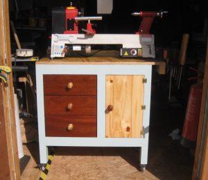 Install Drawer Slides to lathe workbench